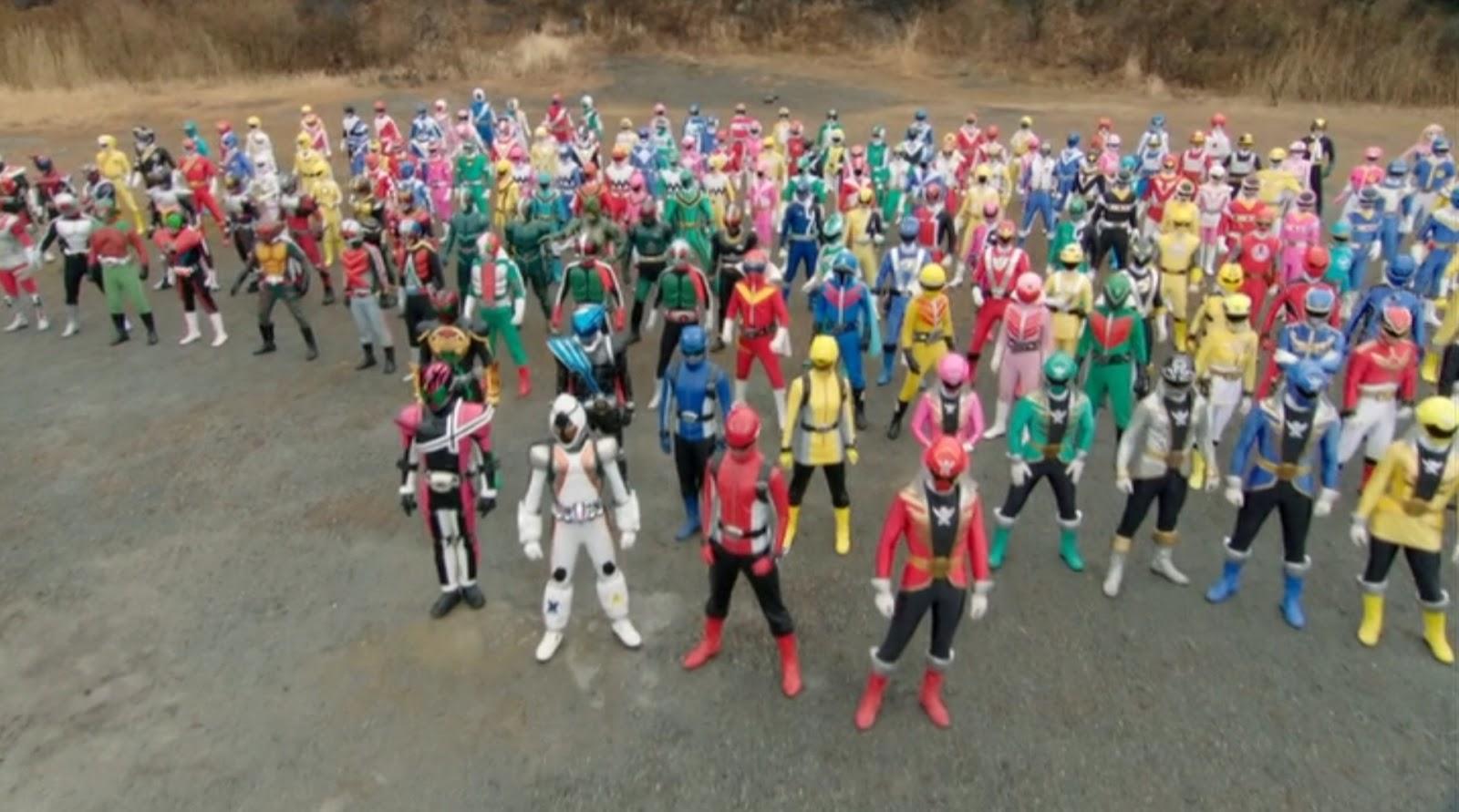 Záběr z Super Hero Taisen
