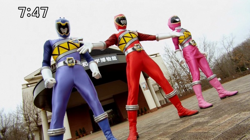 Kyoryu Blue + Kyoryu Red + Kyoryu Pink